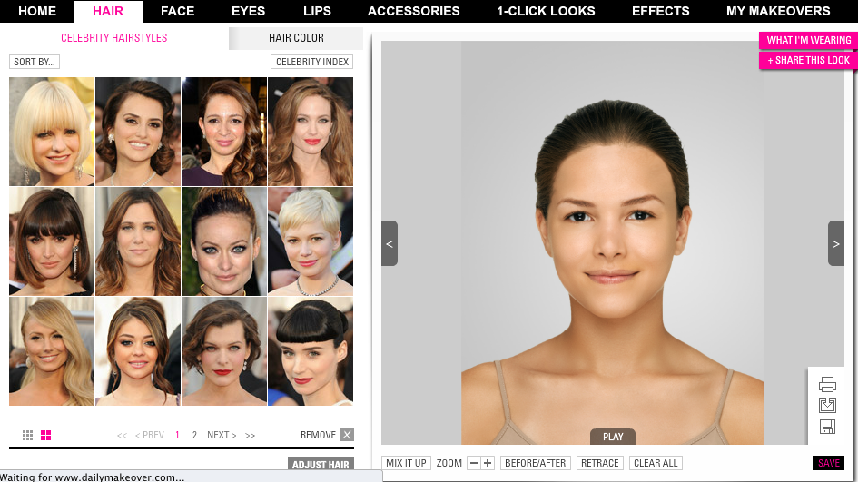 Try on your favorite celebrity hairstyle! - makeovermanual.com ...